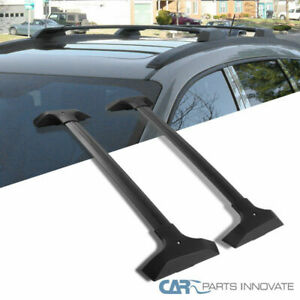 Chevy 09-17 Traverse Black Roof Cross Bars Rack Luggage Cargo Luggage Carrier