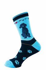 Labradoodle Black Dog Socks Signature