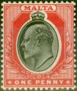 Malta 1905 1d Black & Red SG48 Fine Lightly Mtd Mint
