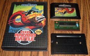 Bio-Hazard Battle 1992 Sega Genesis authentic cart in case w/ reproduction cover