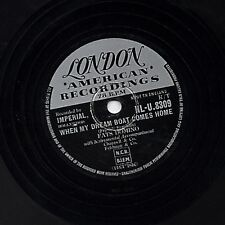 FATS DOMINO 78 quand mon inoffensif Comes Home/so long uk london HL-U 8309 V +