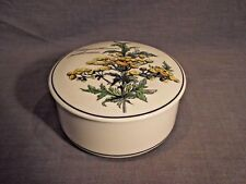 "Villeroy & Boch Botanica Chrysanthemum 4"" Round Candy Trinket Box with Lid"