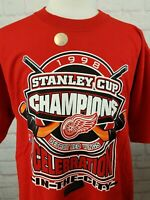 NWT New 1998 Stanley Cup DETROIT RED WINGS T-Shirt XL Yzerman Fedorov 90s