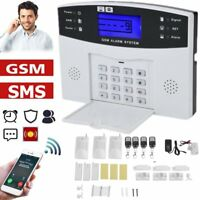 GSM+SMS+LCD Wireless Smart Home Security Burglar Door Alarm System Motion MA