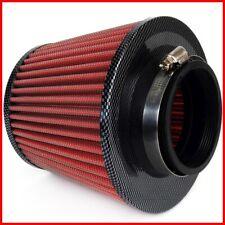 Sportluftfilter Rot / Carbon Top Luftfilter Konisch 3 Adapter Universal NEU