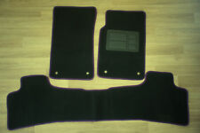 Car Floor Mats Custom Made Front & Rear w/Purple Edging for Holden Commodore VE