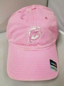 Miami Dolphins NFL Reebok Women's Pink Curved Brim Adjustable Cap/Hat OSFM