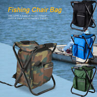 Portable Folding Outdoor Camping Fishing Picnic Chair Backpack Hiking Seat Bag