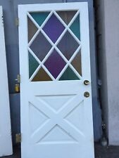 Front door Farmhouse Style Door Cottage Style With Colored Glass 79-1/2 X 36""