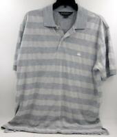 Brooks Brothers Polo striped Cotton Shirt Gray Men's Sz Large EUC