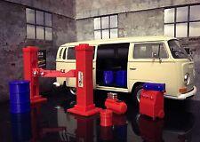 Model Car Scale Garage Accessory+Auto Lift fit 1:24 1:32 1:36 /Slot Car/ Diorama