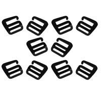 10pcs G Crochet Boucle de Sangle Extérieure pour Sac à Dos - 25mm, Noir