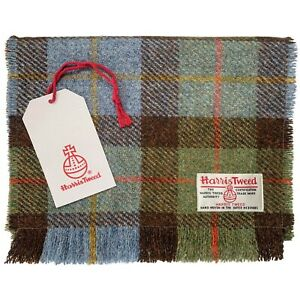 Harris Tweed MacLeod Tartan Check Pure Wool Luxury Unisex Fringed Scarf