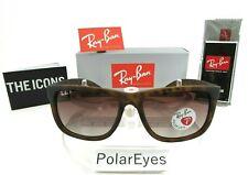 Ray-Ban Justin Polarized RB4165 865/T5 Wayfarer Matte Tortoise/Brown Gradient
