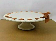 "PORTMEIRION STUDIO WHITE CAKE PEDESTAL /  STAND - ""VALERIE"" PATTERN"