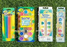 Crayola Washable Kids' Paint Set,  Washable Watercolor Paint, Paint Brush Set