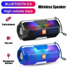LOUD Wireless Bluetooth 5.0 RGB Speaker MIC Stereo Bass USB/TF/FM Radio Outdoor
