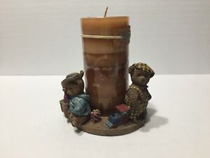 """""""ALL ABOARD"""" BEAR HALLMARK CANDLE HOLDER,BY LANG CANDLES"""