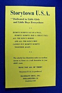Plasticville Storytown - Humpty Dumpty - Reproduction Nursery Rhyme