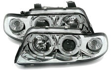 Chrome clear ANGEL EYES Headlights for Audi A4 B5 94-99 Oneblock with indicator