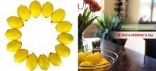 Dasksha Realistic Fake Lemons Set -14Pcs - Real Looking Fruits for.