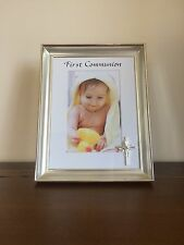 "First Communion Deepset Photo Frame/Gift Silver 4 x 6"""