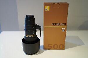 Nikon Nikkor 500mm f/5.6 PF ED VR **MINT CONDITION**