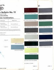 1949 CADILLAC 60S 61 62 75 FLEETWOOD DEVILLE SIXTY SPECIAL PAINT CHIPS DUPONT 6