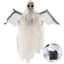 60 cm Fantasma Cráneo Murciélago Colgando Luz Sonido Decoración Halloween