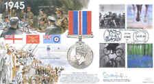 Jsmil 19 1945 War Medal 2000 SECONDA GUERRA MONDIALE WW2 Millennio FDC FIRMATO mraf Craig