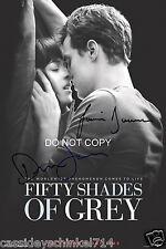 Fifty Shades of Grey Jamie Dornan & Dakota Johnson reprint signed 12x18 poster 2