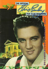 OFFICIAL ELVIS PRESLEY FAN CLUN MAGAZINE 2006 DECEMBER/JANUARY 2007