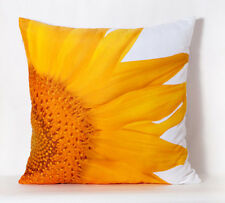 GORGEOUS DIGITALLY PRINTED SUNFLOWER CUSHION COVER 45 X 45CMS WITH HIDDEN ZIP