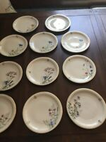 Franconia K & A Krautheim Selb Bavaria Germany Beautiful Set  of Floral Plates
