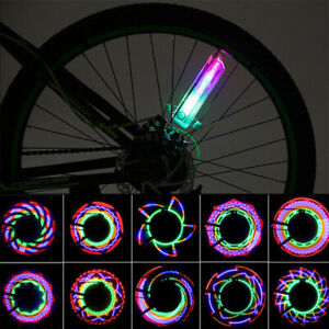 32 LED Flashing Colorful Bicycle Cycling Wheel Spoke Signal Lights For Bike RM