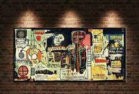 "Jean Michel Basquiat ""Notary"" HD print on canvas 24"" x 48"" Reproduction."
