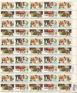 Scott #2027-2030 20c Season's Greetings Stamp Sheet of 50 *see shipping info