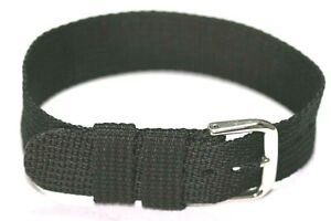 20MM NYLON WATCH STRAP 1 PIECE EASY FIT THREAD THROUGH ONLY £4.50 WITH FREE POST