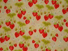 Retro Vintage Meadowsweet Sandi Henderson Michael Miller Strawberry Strawberries