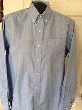 Ralph Lauren Mens Blue Non-Iron Dress Shirt Size 15 1/2