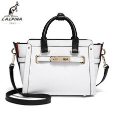 """L""""Alpina Luxus Handtasche Crossbody Schulter- Umhängetasche Echtleder Damen Weiß"""