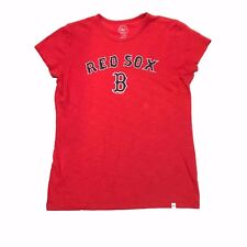 Boston Red Sox T-Shirt 47 Brand Womens Size Large Red Navy Blue