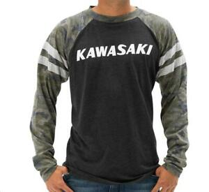 Kawasaki Heritage Camo Logo Long Sleeve T-Shirt, All sizes