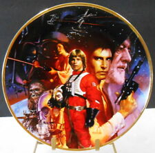 """Star Wars Trilogy Plate By Morgin No1216E Made In 1992 9 1/4"""" Round"""
