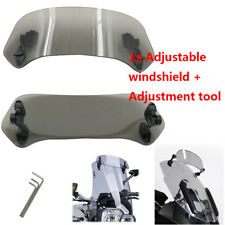Motorcycle Adjustable Wind Screen Windshield Spoiler Air Deflector For Honda BMW