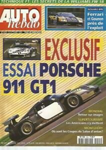AUTO HEBDO N°1055 SUPERTOURISME US / PORSCHE 911 GT1 / SALON AUTO 1996