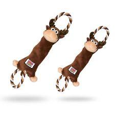 Interactive Strong Kong Tugger Knots Moose Medium Large Dog Puppy Fun Play Toy