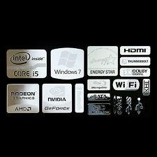 Intel Core i5 Logo Metal Decal Sticker NVIDIA Radeon Energy star (combo Type B)