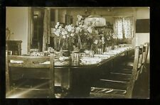 Royalty KING GEORGE V Lunch table Admirals Cabin on HMS KNIG GOERGE V RP PPC