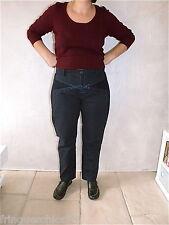 pantalon brodé marine MARITHÉ FRANCOIS GIRBAUD T 34 (44) NEUF ÉTIQUETTE